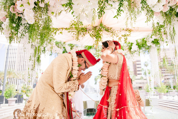 indian wedding,indian groom,maharani,garland