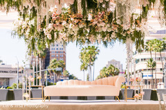 Amazing shot of the outdoor decoration for the Indian wedding