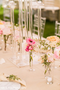 Details of the center pieces ready for the guests
