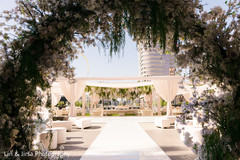Amazing overview of the outdoor venue hosting the Indian wedding