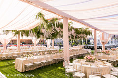 Overview of the Indian wedding outdoors decoration