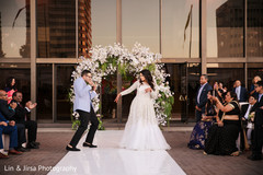 Fun reception starts as the Indian newlyweds dance