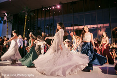 Indian bride and beautiful guests during their choreography