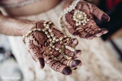Indian bridal jewelry closeup capture.