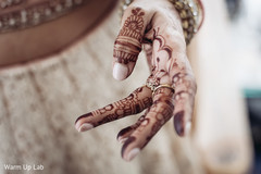 Close Up capture of Indian bridal mehndi art.