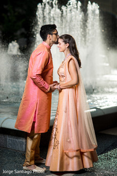 Enchanting moment between the Indian couple