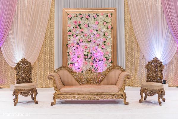 Indian wedding reception stage decor