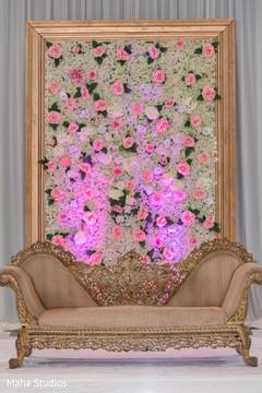 Stunning indian wedding floral backdrop