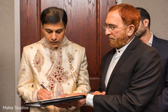 Indian wedding contract signing