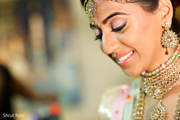 Beautiful maharani getting ready for the Indian wedding ceremony