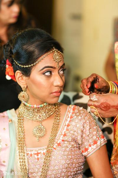 Stunning maharani wearing the traditional tikka