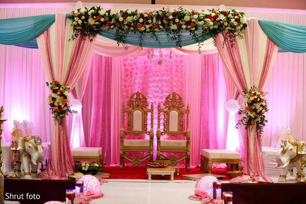 indian wedding,decoration,draping,venue
