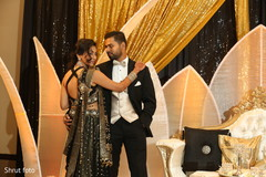 Elegant capture of the Indian couple during pictures