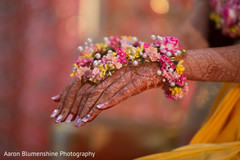 Beautiful indian bride floral jewelry