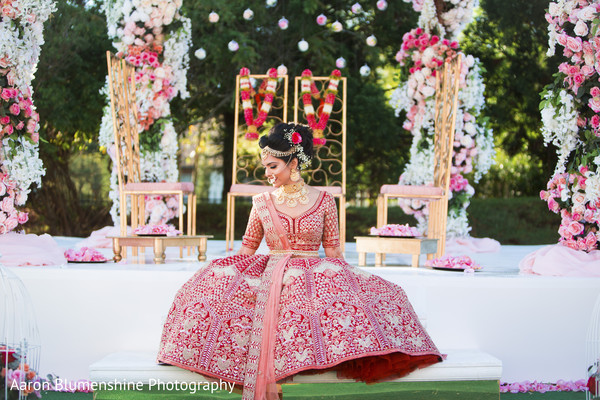 red lengha,bridal lengha