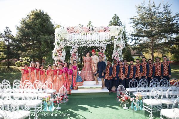 mandap,indian wedding,bridal party