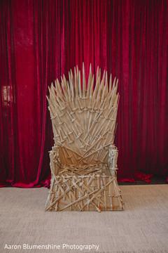 Indian wedding themed throne