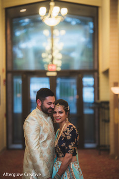 Lovely capture of the Indian couple prior to the ceremony