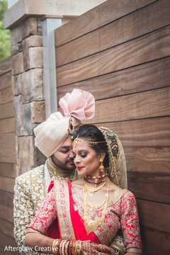 Detail of the maharani and groom as the photo shoot continues