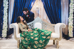 Maharani stares at her husband while the guests arrive and photo shoot continues