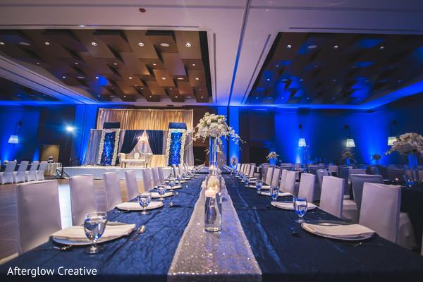 reception,lightning,silverware,indian wedding