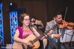 Live band performs at the Indian wedding ceremony