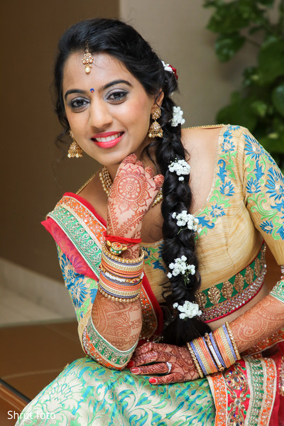 Portrait of the beautiful maharani prior to the Indian wedding ceremony
