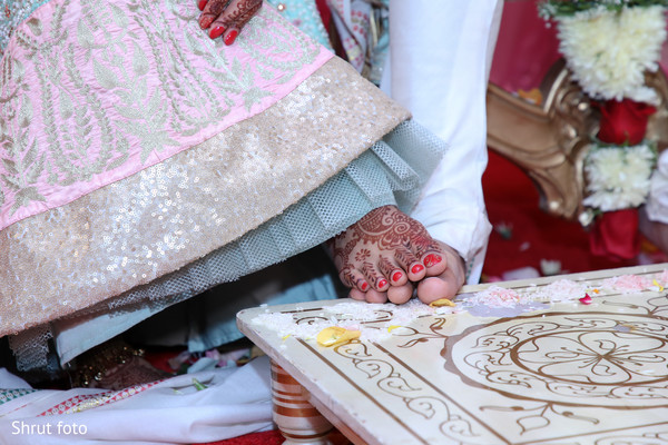 A moment during the Indian wedding ceremony rituals
