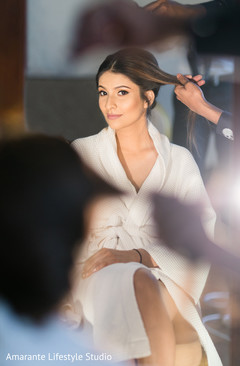Stunning capture of the beautiful maharani getting ready for the Indian wedding