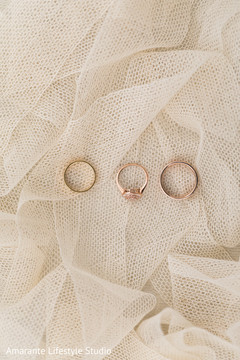 Close up capture of the Indian wedding rings
