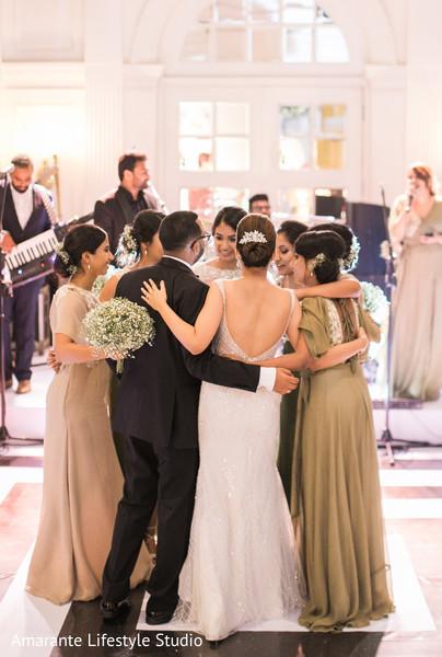 indian couple,bridesmaids,live music,indian wedding