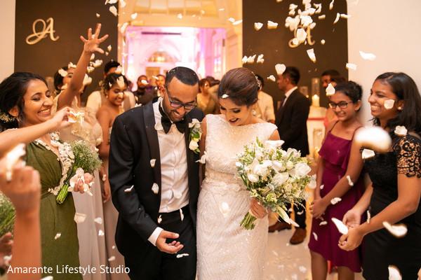 indian wedding,maharani,guests,newlyweds