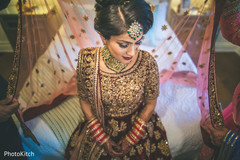 See this indian bride getting the final touches