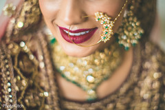 Gorgeous indian bride with nose ring