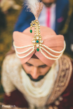 Beautiful indian groom's accessories