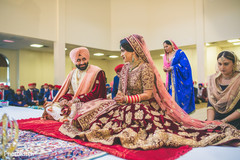 Lovely indian couple looking at each other