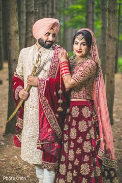 Indian newlyweds photo shoot