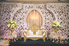 Gorgeous indian wedding reception stage