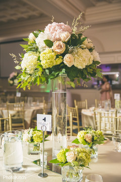 Lovely indian wedding table centerpieces