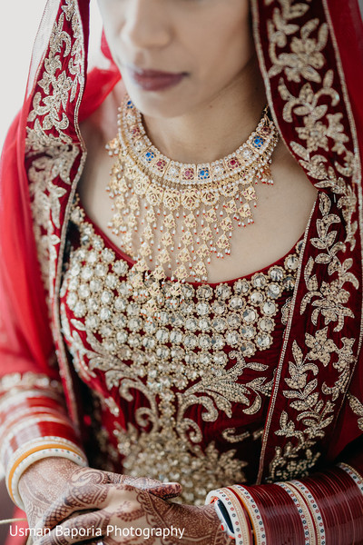 Sari and bridal jewelry details from the maharani