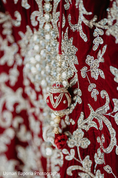 Indian Wedding clothing details close up