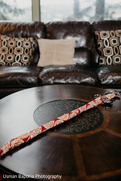 Detail of the Indian wedding kirpan used by the Groom