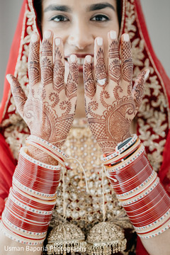 Different shot of the amazing Indian bridal jewelry and mehndi