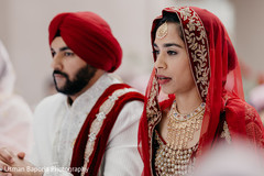 Indian couple during the beginning of the ceremonies.