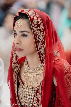 Stunning maharani listening carefully during the ceremony