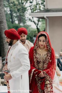 Capture of the Indian couple during the ceremony