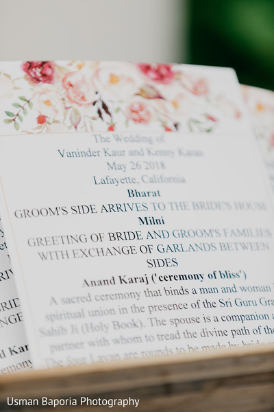 Lovely Indian wedding program and description of each ceremony