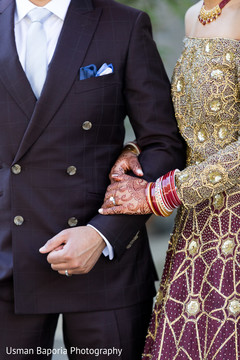Details of the reception wardrobe from the Indian newlyweds