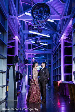 Purple lightning greets the Indian newlyweds