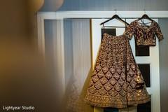 Lovely burgundy bridal lengha